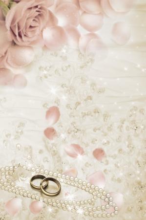 alliances: Pair of golden wedding rings.  Stock Photo
