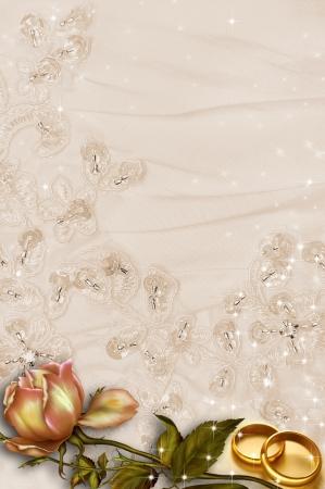 Paar gouden trouwringen. Geà ¯ soleerd op wit