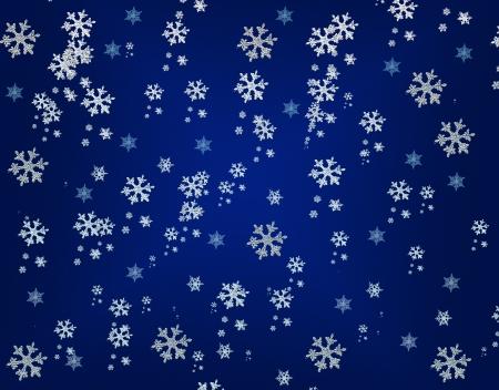 Naadloze winter achtergrond met sneeuwvlokken Stockfoto