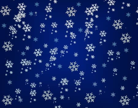 wintry weather: Seamless winter background with snowflakes