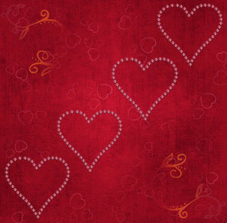 Valentine's day postcard with hearts photo