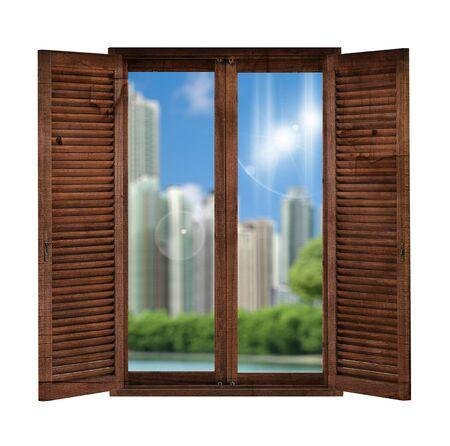 window overlooking the garden Stock Photo - 16292396