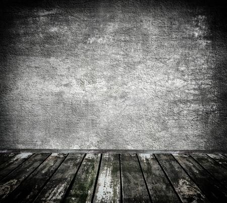 kamer aan de binnenkant met grijze stenen muur