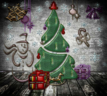 Christmas and New Year of snake Stock Photo - 16731033