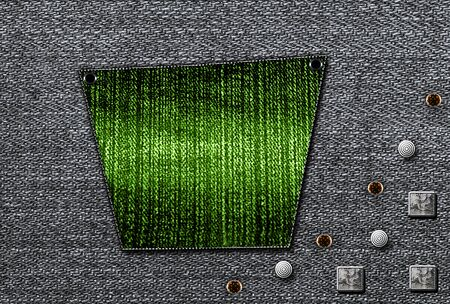 back pocket: Back pocket  Denim background Stock Photo