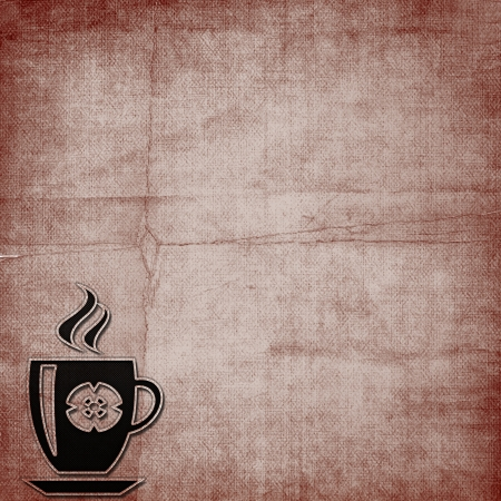 Background with Hot Cup of Coffee photo
