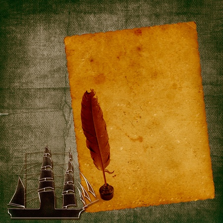 Sailboat metal grunge background photo