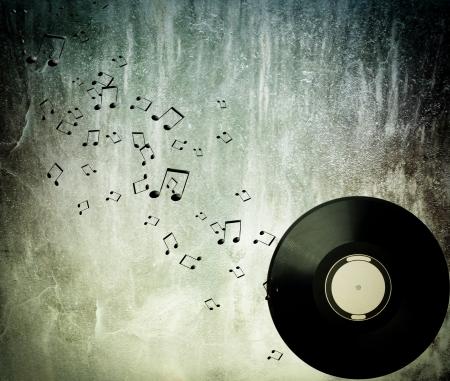 Abstracte muziek achtergrond Stockfoto