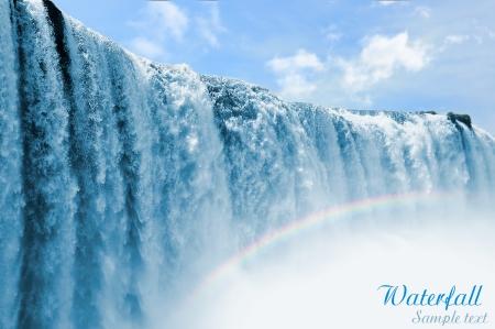 Iguazu falls in Misiones province, Argentina Stock Photo