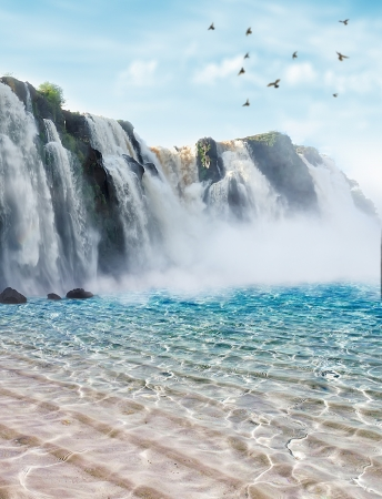 Iguazu falls in Misiones province, Argentina Stock Photo
