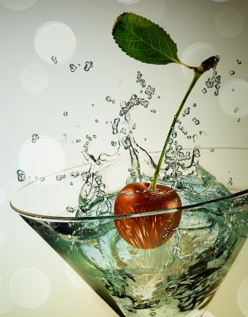 glas met kers