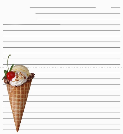 fill up: Ice cream  Stock Photo