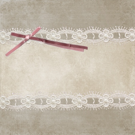 Invitation card with ornament background photo