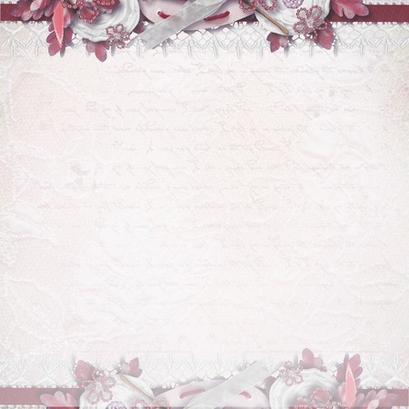 Romantic invitation card  photo