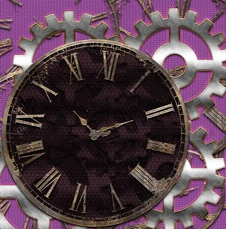 achtergrond met antieke klokken