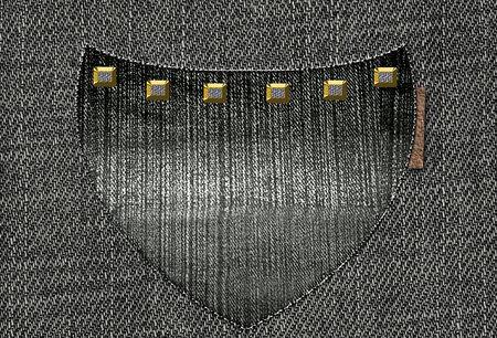 back pocket: Back pocket. Denim background