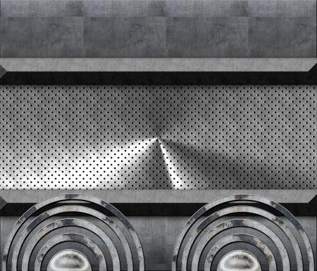 metalen sjabloon achtergrond Stockfoto