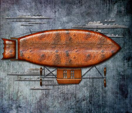 luchtschip Stockfoto
