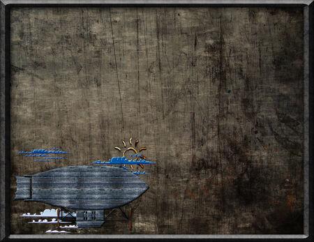 luchtschip achtergrond