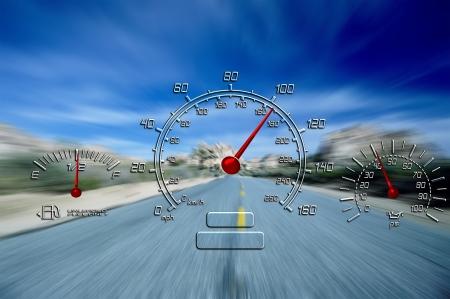 Weg naar de nergens automatische meters