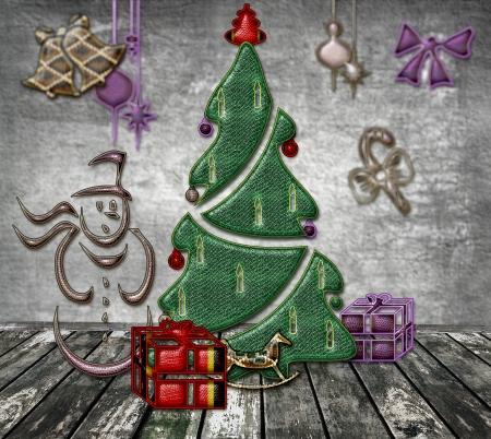 Kerstmis en Nieuwjaar van de slang Stockfoto