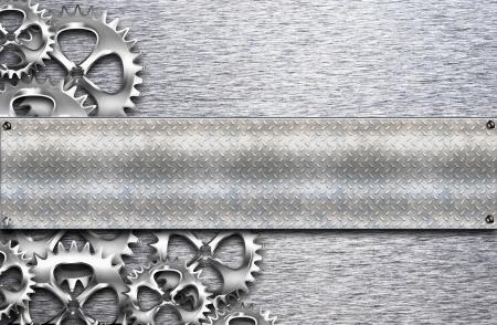 metallic gears achtergrond Stockfoto