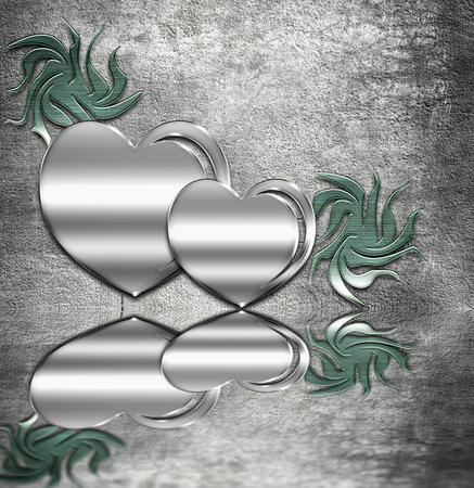 Metal hearts photo