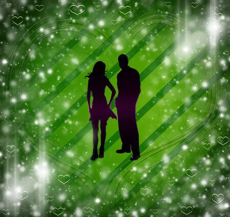 schaduw van de man en de vrouw