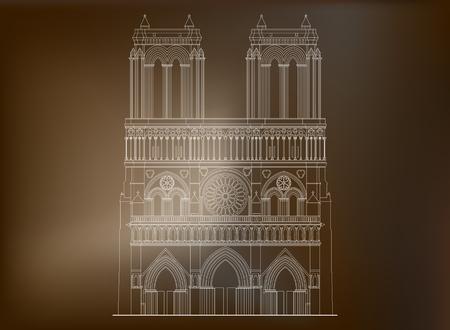 De heilige kathedraal Notre-Dame de Paris in Frankrijk. Beroemde symbool van Parijs gotische architectuur