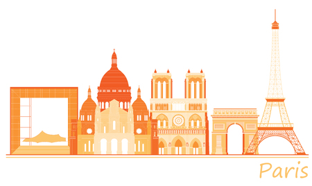 holy place: City of Paris panorama, world famous places of France.