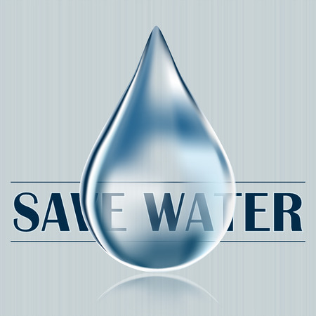 sprinkling: Save water, blue water drop, water saving, reduce and save water supply