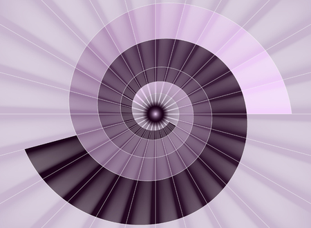 Spiral staircase, pink tunnel to the light Stock Vector - 50699385
