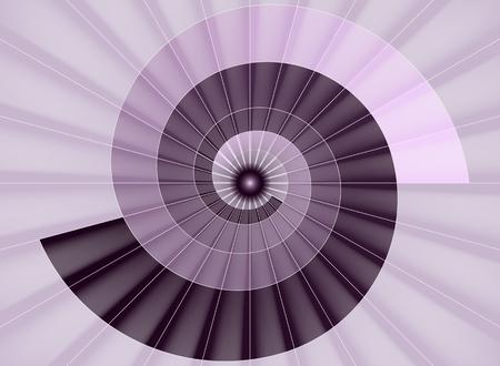 Wendeltreppe, rosa Tunnel zum Licht Vektorgrafik