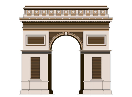 triumphal: Arc de Triomphe - triumphal arc in Paris, France. Famous place in center of Paris