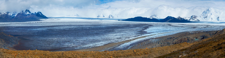 patagonian: Wilderness in Patagonian Andes, Argentina. Long glacier Viedma view, Los Glaciares national park.