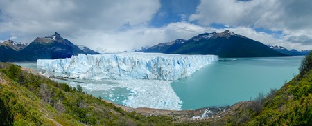 Perito Moreno Glacier panorama in Los Glaciares National Park, Patagonia, Argentina Stock Photo
