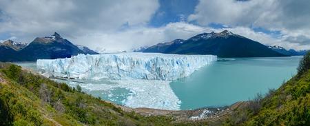 climate: Perito Moreno Glacier panorama in Los Glaciares National Park, Patagonia, Argentina Stock Photo