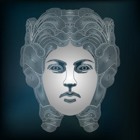 augury: Silver woman, zodiac Virgo sign for astrological predestination and horoscope