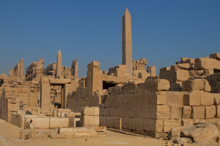 past civilizations: Famous Karnak temple complex of Amon Ra in Luxor, Egypt Stock Photo