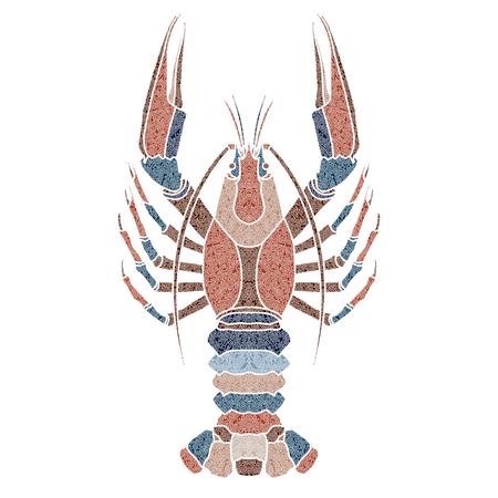 écrevisses à motifs lumineux, signe du cancer pour la prédestination astrologique et horoscope