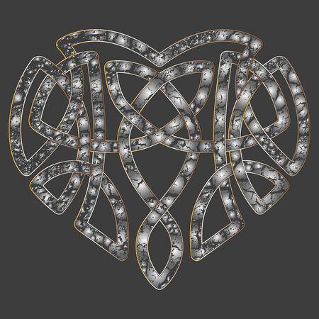 keltische muster: Celtic Muster Herz, verflechten Knoten ethnischen Symbol