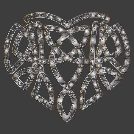 intertwine: Celtic pattern heart, intertwine knot ethnic symbol