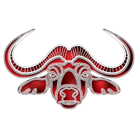 Bright bull portrait, zodiac Taurus sign