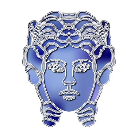 augury: Bright woman portrait, zodiac Virgo sign