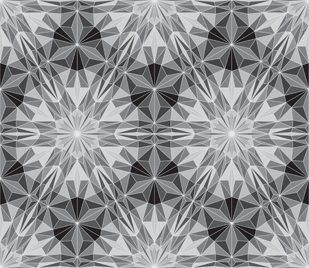 Seamless abstract vector pattern - repeat geometric triangle mosaic background