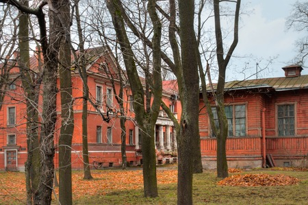 Typical view of a residential building from a courtyard in St. Petersburg