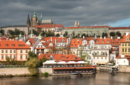 Prague old town, Cech Republic. Praha Castle with churches, chapels and towers Stock Photo