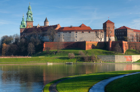 The medieval Wawel castle in Kracow, Poland Stock fotó