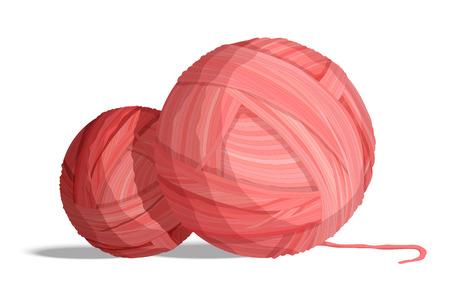 Yarn balls for knitting on white background vector illustration Ilustrace
