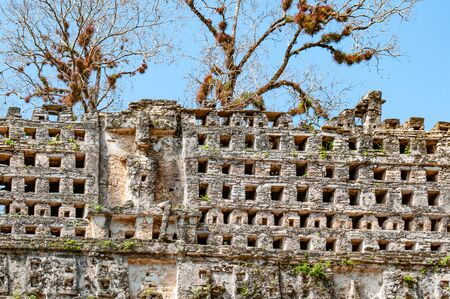 Ruins at the maya archaeological site of Yaxchilan, Chiapas, Mexico